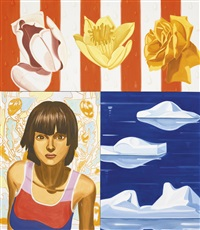 three flowers by david salle