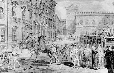 opening of the carnival at romethe victor conducted triumphthe horse racethe romans polite to str by david allan
