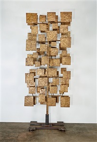 sculpture screen from the first national bank of miami, florida by harry bertoia