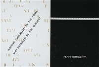 territorial (portfolio of 8) by vincenzo agnetti