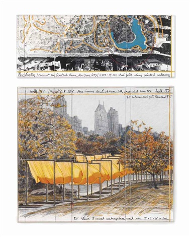 the gates: project for central park new york city (diptych) by christo and jeanne-claude