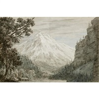 between lauterbrunn and grindelwald by john robert cozens