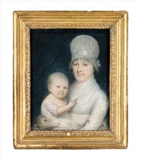 portrait of hannah d. and child by james sharples