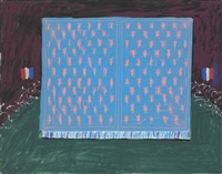 drop curtain for les mamelles (from les mamelles de tiresias) by david hockney