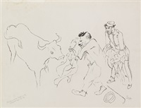stierkampf cassis by george grosz