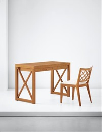 croisillon' desk and chair by jean royère