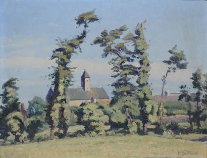 village derrière les arbres by charles victor guilloux