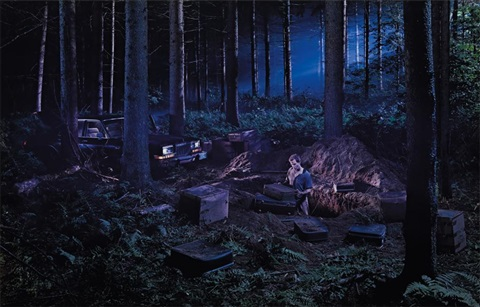 untitled (man in the woods) (from beneath the roses) by gregory crewdson