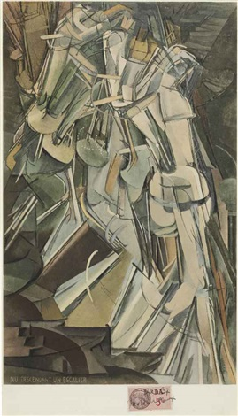 nude descending a staircase no 2 by marcel duchamp