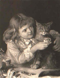the cat's teatime by william hippon gadsby