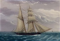 a merchant brigantine off the coast by duncan mcfarlane