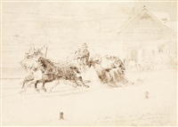 travelling on a sleigh by mihály von zichy