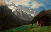 paysage du val d'illiez by gustave eugène castan