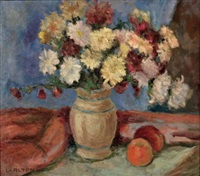gartenblumen in vase by lois alton