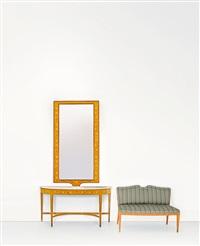console con specchiera (+ divanetto; 2 works) by serafino arrighi