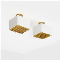 ceiling lights model 9068, pair by paavo tynell