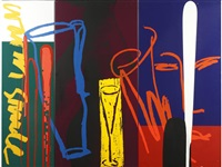 jug 2 - cocktails - triptych by bruce mclean