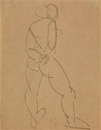stehender weiblicher akt von hinten by fernand léger