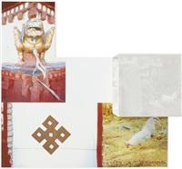 tibetan locks (curtain), from tibetan keys and locks by robert rauschenberg