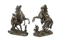models of the marley horses (2 works) by guillaume coustou the elder