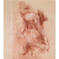figural abstraction (drawing for myth series) by john graham coughtry