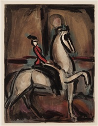 amazon (from cirque) by georges rouault