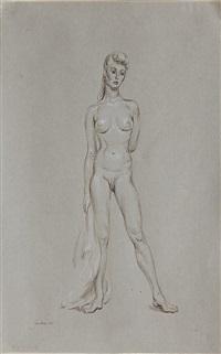 standing female nude by paul cadmus