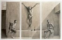tríptico de cristo (3 works) by aldo bahamonde