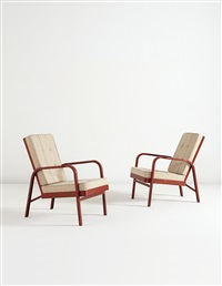 armchairs (pair) by jean prouvé and jules leleu