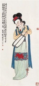 仕女 by liu bonian