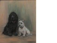 spaniel and westie by marion rodger hamilton harvey