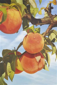 untitled (4 peaches at sunset) by mustafa hulusi