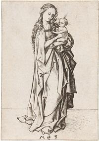 die kleine stehende madonna (after 1480)) by martin schongauer