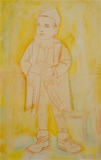 religious boy by pinchas litvinovsky