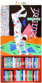 parade, metropolitan opera by david hockney
