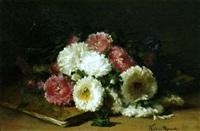 nature morte au livre et aux fleurs by claire julienne noble-pijeaud