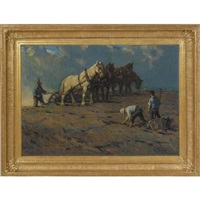 plowing by lawrence carmichael earle