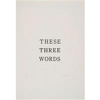 these three words by jiro takamatsu