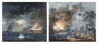 cenas de batalha (pair) by alexandre jean noel