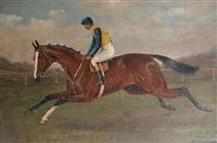 race horse (+ jockey; pair) by alfred moginie bryant