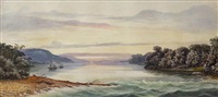 lake scene by samuel thomas gill