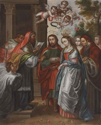 the marriage of the virgin by peruvian school-cuzco