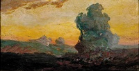 sunset landscape by may ames