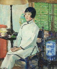 chinese woman by david anthony tauszky