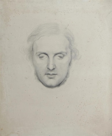 portrait head study of william vernon harcourt by george frederick watts