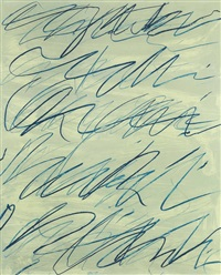 roman notes vi (from roman notes) by cy twombly