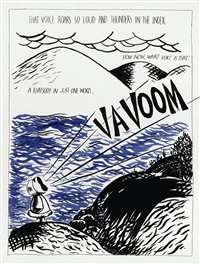 untitled (that voice roars so loud...) by raymond pettibon