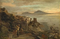 the gulf of naples (study) by oswald achenbach