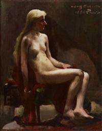 sitzender weiblicher akt by lovis corinth