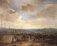 cavalry encampment by robert van den hoecke